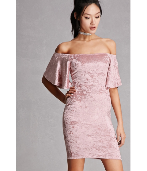 Imbracaminte Femei Forever21 Crushed Velvet Bodycon Dress Mauve