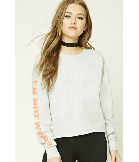 Imbracaminte Femei Forever21 Im Not Weird Graphic Top Greyorange