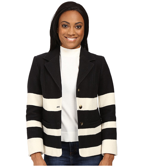 Imbracaminte Femei Pendleton Petite Skyline Stripe Jacket BlackVanilla Stripe Jacquard