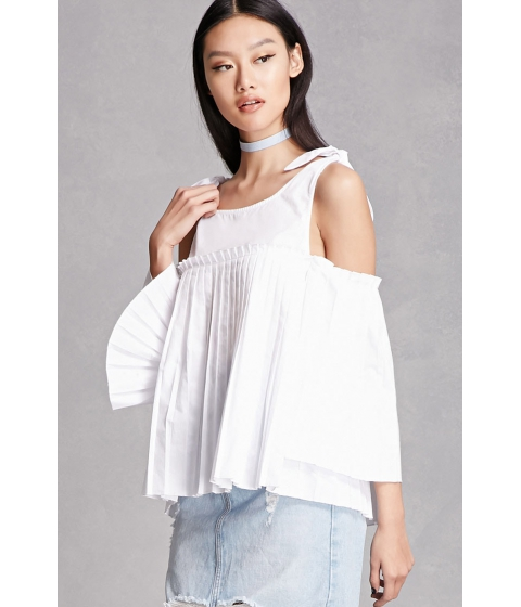 Imbracaminte Femei Forever21 Pleated Open-Shoulder Top White