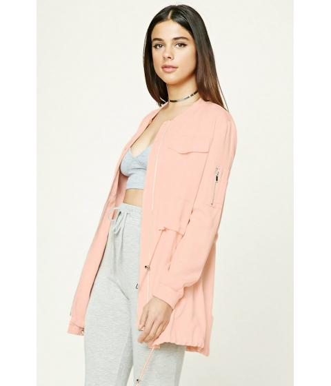 Imbracaminte Femei Forever21 Longline Utility Jacket Blush