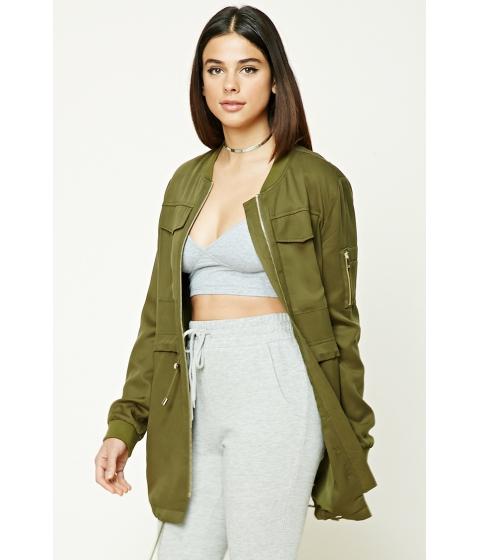 Imbracaminte Femei Forever21 Longline Utility Jacket Olive