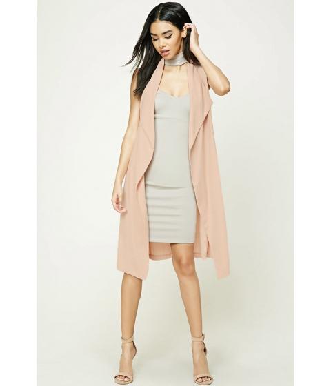 Imbracaminte Femei Forever21 Draped Longline Vest Blush