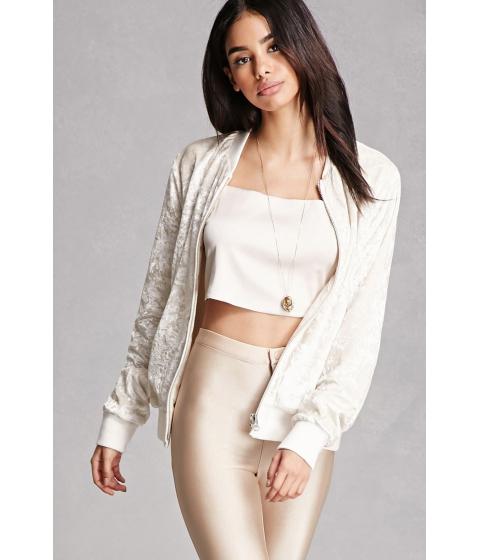 Imbracaminte Femei Forever21 Crushed Velvet Jacket Ivory