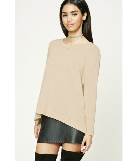 Imbracaminte Femei Forever21 Purl Knit Boxy Top Taupe