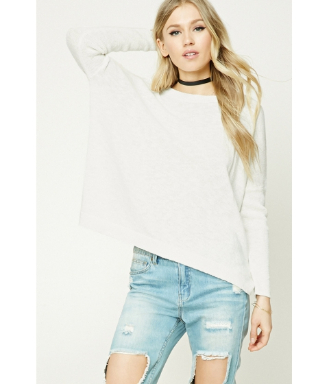 Imbracaminte Femei Forever21 Purl Knit Boxy Top White