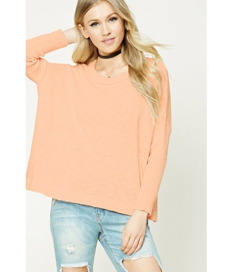 Imbracaminte Femei Forever21 Purl Knit Boxy Top Peach
