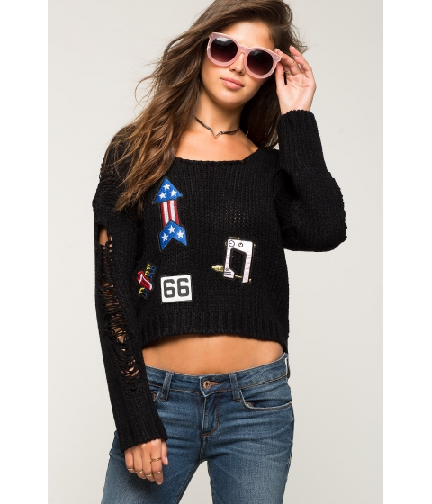 Imbracaminte Femei CheapChic Distressed Sweater With Patches Black