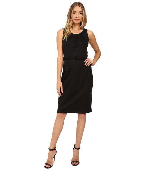 Imbracaminte Femei Christin Michaels Merla Sleeveless Pleated Ponte Dress Black