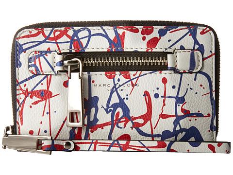 Genti Femei Marc Jacobs Splatter Paint Zip Phone Wristlet White Multi