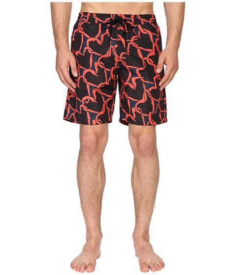 Imbracaminte Barbati Paul Smith Long Classic Swim Shorts Red Multi