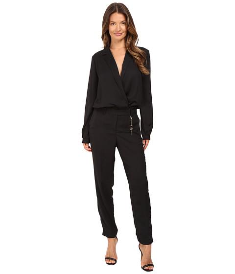 Imbracaminte Femei Versace Long Sleeve Side Chain Jumpsuit Nero