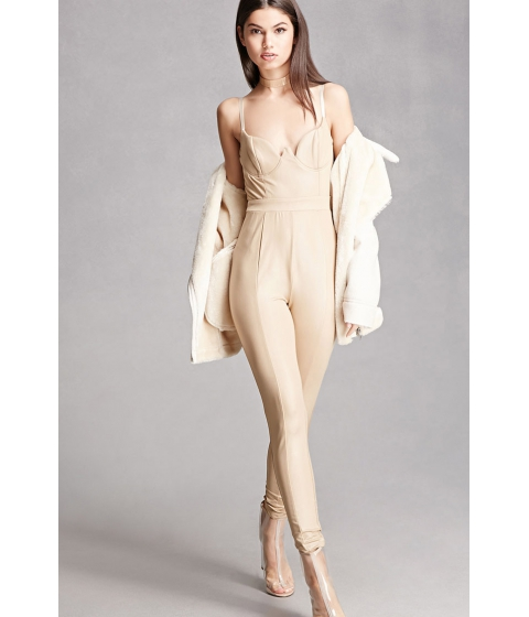 Imbracaminte Femei Forever21 Sheeny Jumpsuit Taupe