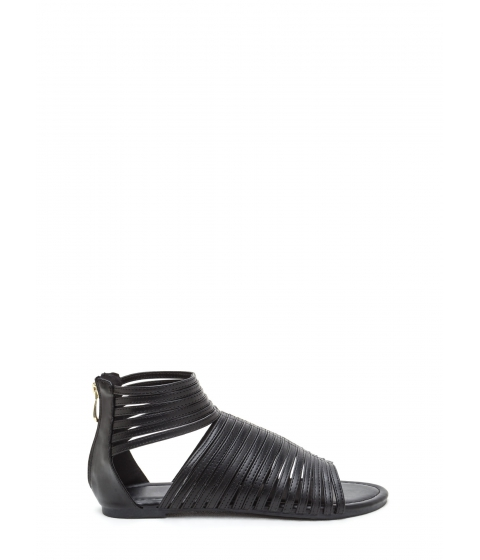 Incaltaminte Femei CheapChic Stacked In Your Favor Strappy Sandals Black