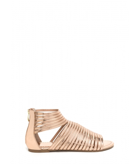 Incaltaminte Femei CheapChic Stacked In Your Favor Metallic Sandals Rosegold