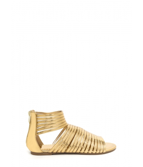 Incaltaminte Femei CheapChic Stacked In Your Favor Metallic Sandals Gold