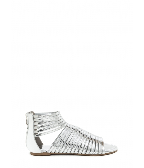 Incaltaminte Femei CheapChic Stacked In Your Favor Metallic Sandals Silver