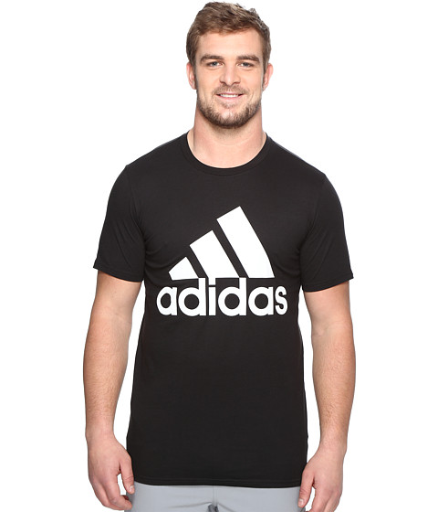 Imbracaminte Barbati adidas Big amp Tall Badge of Sport Classic Tee BlackWhite