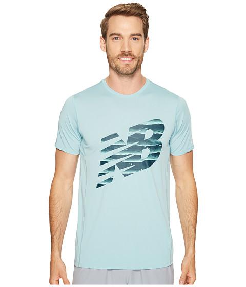 Imbracaminte Barbati New Balance Accelerate Short Sleeve Graphic Top Storm BlueBlack