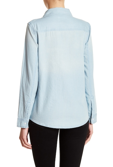 Imbracaminte Femei Melrose and Market Chambray Shirt DARK LIGHT WASH