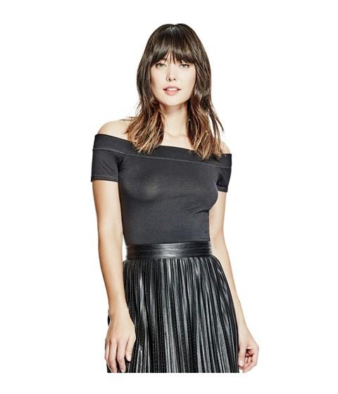 Imbracaminte Femei GUESS Norah Off-the-Shoulder Top jet black