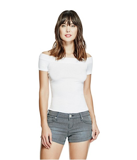 Imbracaminte Femei GUESS Norah Off-the-Shoulder Top true white