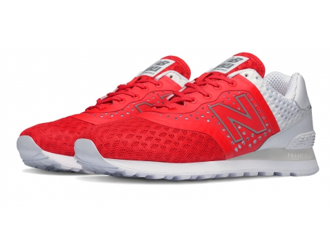 Incaltaminte Barbati New Balance 574 Re-Engineered Breathe Red with White