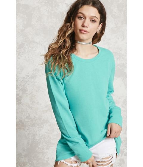 Imbracaminte Femei Forever21 High-Low Fleece Sweatshirt Mint