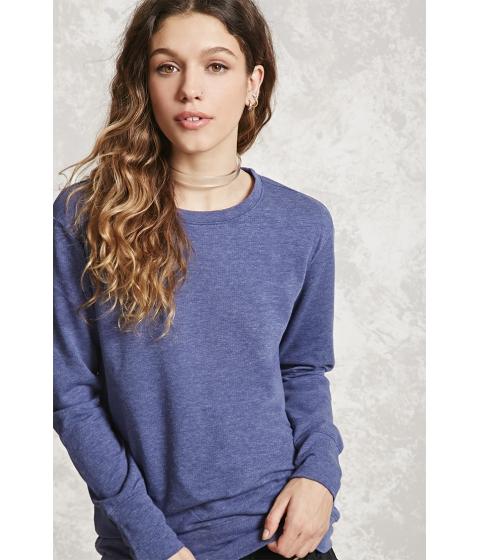 Imbracaminte Femei Forever21 High-Low Fleece Sweatshirt Navy