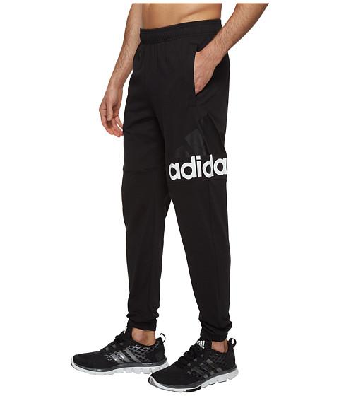 Imbracaminte Barbati adidas Essentials Track SJ Logo Pants BlackWhite