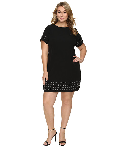 Imbracaminte Femei Calvin Klein Plus Size T-Shirt Dress w Grommets Black
