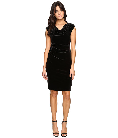 Imbracaminte Femei Calvin Klein Cowl Neck Velvet Dress Black