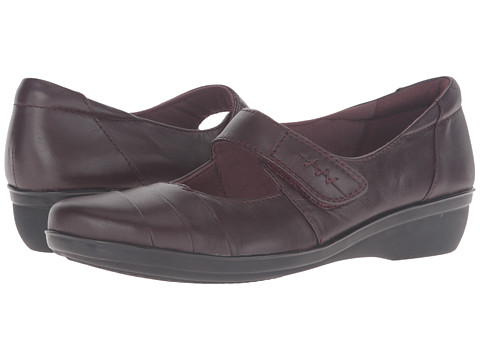Incaltaminte Femei Clarks Everlay Kennon Aubergine Leather
