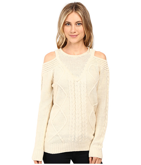 Imbracaminte Femei Brigitte Bailey French Cut Cable Knit Sweater Ivory