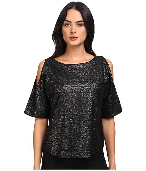 Imbracaminte Femei Splendid Sequins Cold Shoulder Top Black