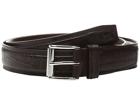 Accesorii Barbati John Varvatos Genuine Leather Croco Belt Chocolate