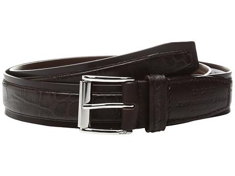 Accesorii Barbati John Varvatos Genuine Leather Croco Belt Chocolate