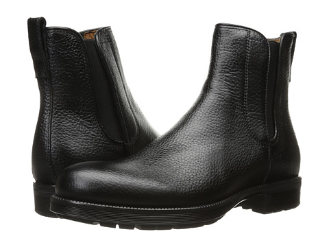 Incaltaminte Barbati Aquatalia Hank Black Tumbled Calf