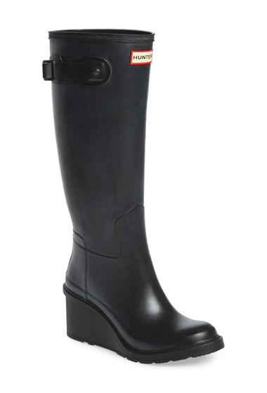 Incaltaminte Femei Hunter Original Refined Wedge Rain Boot Women BLACK