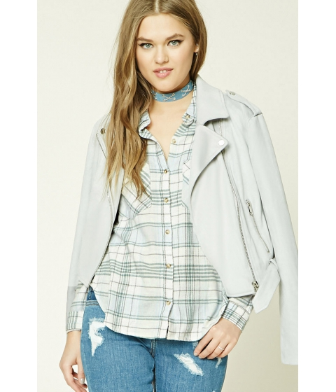 Imbracaminte Femei Forever21 Plaid Flannel Shirt Creamsage