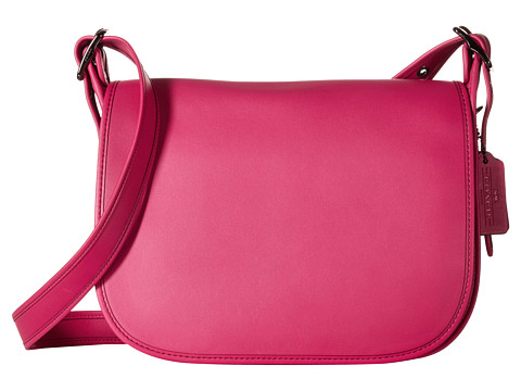Genti Femei COACH Glovetanned Leather Saddle Bag DKCerise