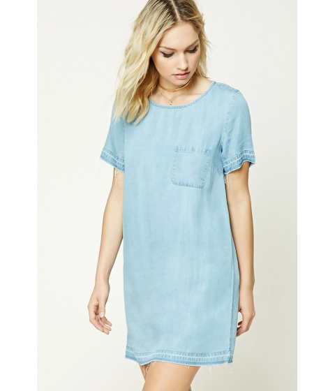 Imbracaminte Femei Forever21 Contemporary Chambray Dress Denim