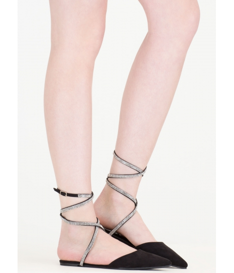 Incaltaminte Femei CheapChic Bling It On Strappy Pointy Slipper Flats Black