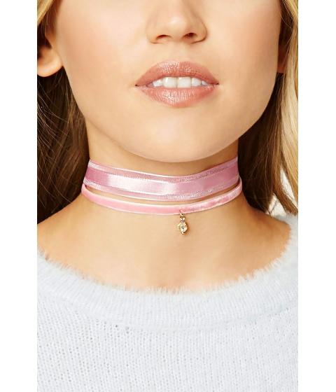 Bijuterii Femei Forever21 Velvet Choker Set Pink