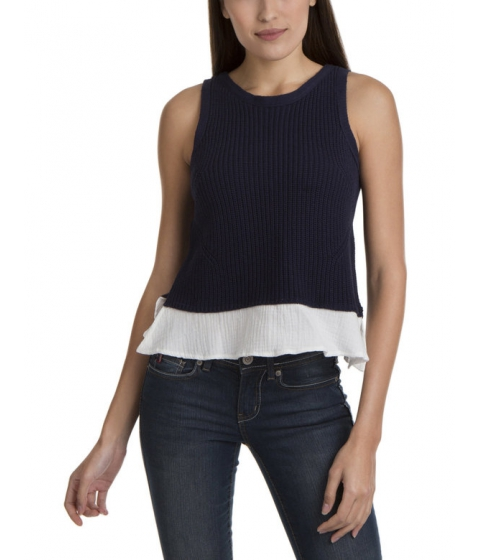 Imbracaminte Femei US Polo Assn TWOFER SWEATER TANK EVENING BLUE COMBO