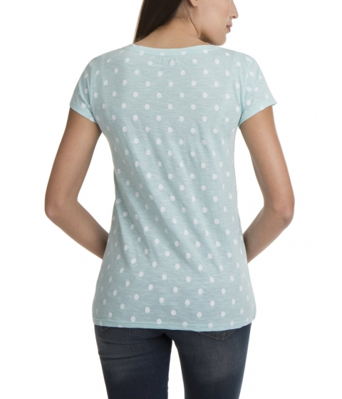 Imbracaminte Femei US Polo Assn DOT PRINT SCOOP NECK TEE SHIRT AQUA SHORE