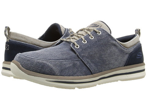 Incaltaminte Barbati SKECHERS Relaxed Fit Doren - Alwen Navy Natural Washed Canvas