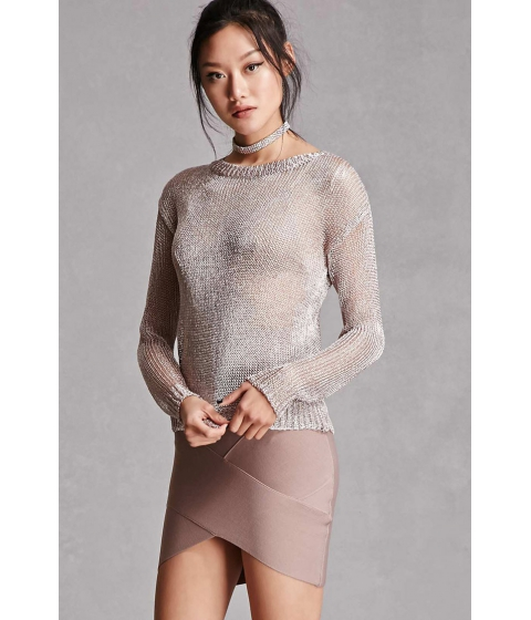 Imbracaminte Femei Forever21 Pixie and Diamond Chainmail Top Silver