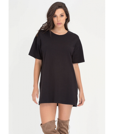 Imbracaminte Femei CheapChic Whats The Big Idea Oversized Tee Black