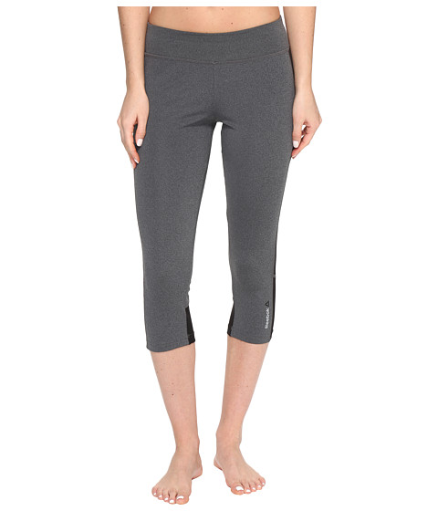 Imbracaminte Femei Reebok Workout Ready Capris Colored Block Dark Grey Heather